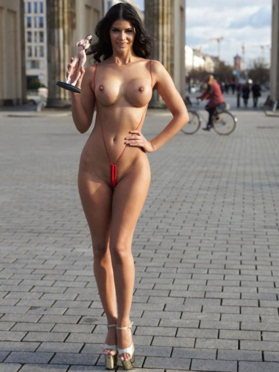 Sexy Public Half Topless 98
