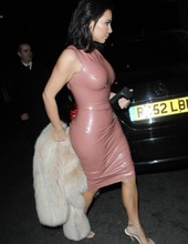 Kim Kardashian in latex 10