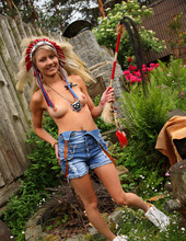 Hot Blond Teen In Indian Outfit 03