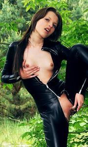 Liona Tammy Tight Black Catsuit
