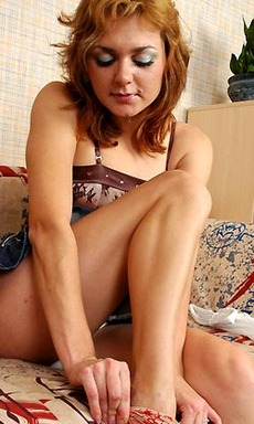 Elvira D Skittish Pantyhose Babe