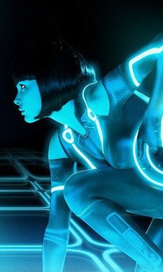 Naked Tron cosplay