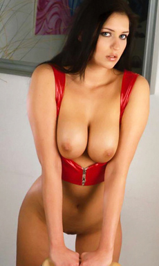 Black Haired Beauty with Sexy Round Tits
