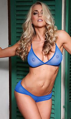 Hannah May Rose Strips From Her Blue Bikini