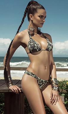 Sexy Barbara on the beach
