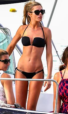 Abigail Clancy in black bikini