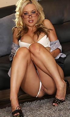 Kayden Kross Glasses And Skirt