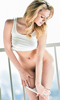 Sexy Mia Malkova Strips Outside