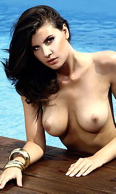 Olga Kaminska By The Pool