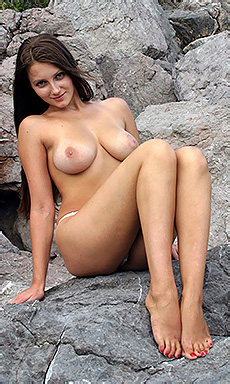 Marina Naked In Nature