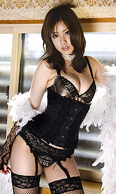 Ayaka Noda In Black Lingerie