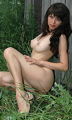 Jewel Nude By Barn Door