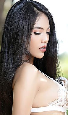 Hot Asian Brunette Babe Arya