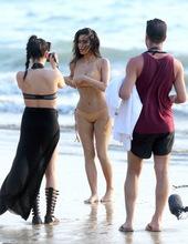 Kim Kardashian on the beach 01