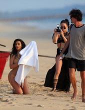 Kim Kardashian on the beach 04