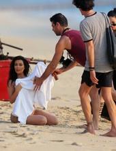 Kim Kardashian on the beach 06