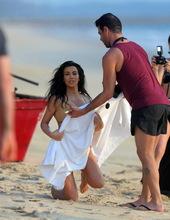 Kim Kardashian on the beach 07