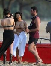 Kim Kardashian on the beach 08