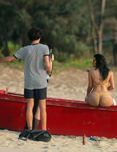 Kim Kardashian on the beach 09