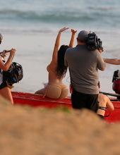 Kim Kardashian on the beach 12