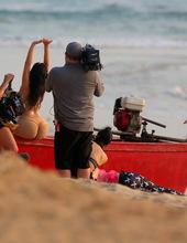 Kim Kardashian on the beach 14
